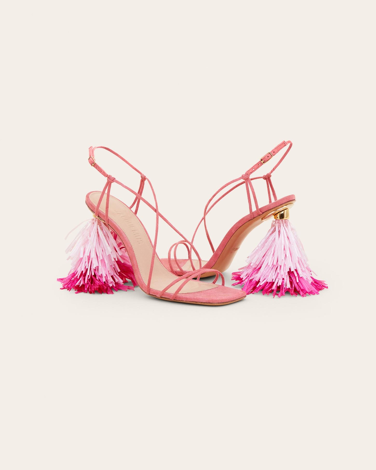 Les sandales Raphia hautes